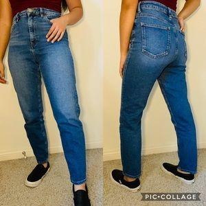 ASOS Vintage Mom Jeans Dark Wash High Rise